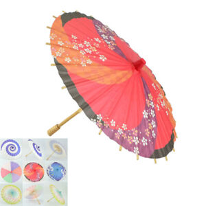 Vintage Paper Umbrella Parasol Japanese Style Cosplay Dance Decoration Gift NEW