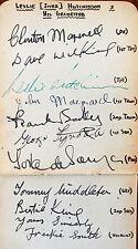 JAZZ SPECIAL: LESLIE'JIVER' HUTCHINSON ,BIG BAND AUTOGRAPHS c1940