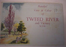 Vintage NSW TWEED VALLEY & SURROUNDS 40s VIEW FOLDER FOLD-DOWN-9 PHOTO POSTCARD