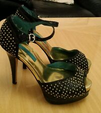 RIVER ISLAND . Ladies studded platform stiletto open toe shoes . Size  6