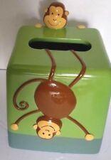 DYR Monkey Jungle Safari Zoo Green Tissue Cover Holder Child Bathroom