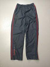 Nike Mens Track Pants Windbreaker Zipper Pockets Black Size Medium vintage 2000s