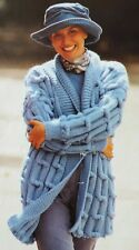 Cable Jacket Knitting Pattern Photocopy To Make a Ladies Textured Chunky Coat