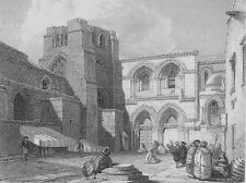 Jerusalem, CHURCH OF the HOLY SEPULCHRE RESURRECTION ~ 1836 Art Print Engraving