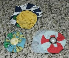 Lot of 3 Matilda Jane Hair Pretties 2 Barrettes 1 Ponytail Holder Striped Floral