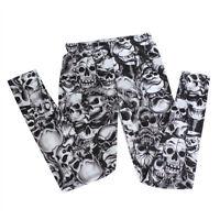 Lady Women Punk Style Girl Skull Print Tight Pant Cool Stylish Legging