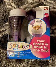 Snackeez Duo All-in-One Snacking Solution 30 Piece Kit purple -AS SEEN ON TV