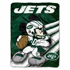New York Jets Mickey Mouse fleece throw Blanket New