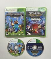 Xbox 360 Minecraft & Minecraft Story Mode Complete Adventure No Manuals