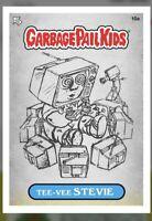 Topps / WAX Digital Garbage Pail Kids Series 1 GPK SKETCH TEE-VEE STEVIE 10a