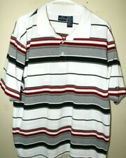 Cremieux Classics Short Sleeve Polo Shirt  Red White Blue Large New NWT Summer