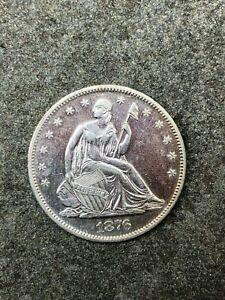 1876 S Seated Liberty Half Dollar UNC