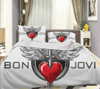 3D Rock Bon Jovi Quilt Cover Duvet Cover Comforter Cover Single/Queen/King 320