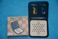 CHINESE CHECKERS Compact Travel Game. RARE. Fully Intact with Rules.No Dice