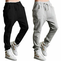 Mens Slim Fit Tracksuit Sports Gym Skinny Jogging Joggers Sweat Pants Trousers M