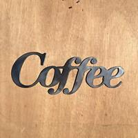 Rustic Home, Coffee Sign 10 x 3, Farmhouse, Metal Words, Kitchen Wall Decor
