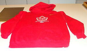 Canada 2015 World Juniors Hockey 100th Anniversary Youth Hoodie Sweater M Red