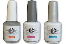 UV/LED Nail Gel Polish Ph bond primer, base foundation & gloss top coat set