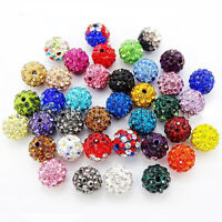 20Quality Czech Crystal Rhinestones Pave Clay Round Disco Ball Spacer Loose Bead