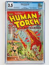 Human Torch #5 (#4) Back cover ad with unused cover to Young Allies #1! CGC 3.5