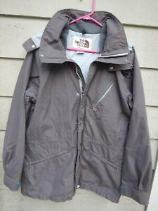 North Face Large Gore-Tex Jacket Parka Hooded Gray Ski Snowboard Skiing Goretex