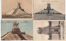 Lot 4 cartes postales anciennes GUERRE 14-18 WW1 MARNE NAVARIN monument morts 1