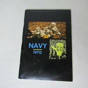 Naval Academy Navy 1970 Football Handbook Schedule Itinerary Statistics Profiles