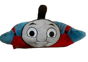 "Thomas The Tank Engine Train Pillow Pet 20"" Large Pillow Blue Soft Cuddly"