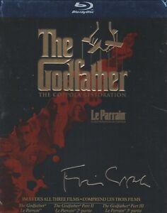 THE GODFATHER THE COPPOLA RESTORATION BLURAY BOX SET with Marlon Brando