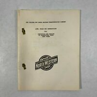 Vtg Chicago And North Western Transportation Company Locomotive Inspection Book