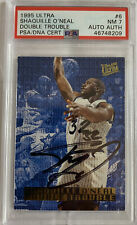 1995 Ultra Shaquille O'neal Autograph Double Trouble #6 PSA 7.0 Auto Basketball