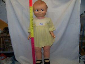 "#98.  Vintage Very Large 1966 Kewpie Doll 27"" Tall Hard Plastic Cameo Poseable,"