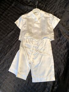 traditional baby christening romper