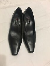 Ecco women's black leather comfort career dress pumps sz 37
