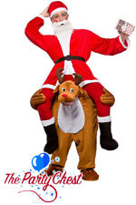 ADULT CARRY ME REINDEER COSTUME Novelty Christmas Funny Fancy Dress Outfit 8593