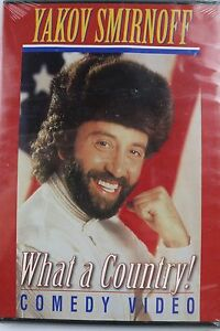90s Vintage Brand New Yakov Smirnoff-What A Country DVD Sealed Comedy Comedian