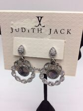 $165 Judith jack swarovski marcasite crystal statement earrings j30