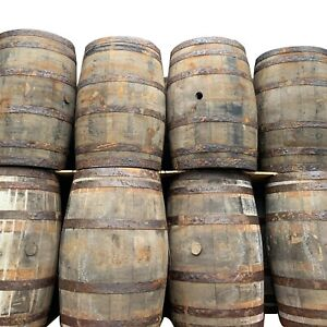 Recycled Solid Oak Whisky & Beer Keg Wooden Barrel For Outdoor Garden 40 Gallon