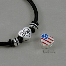 Military Mom Bracelet - Army Navy Marines Charm Bracelet - Patriotic Gift NEW