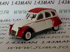 2CV20E Voiture 1/43 norev citroën : 2 CV n°122 DOLLY blanche & rouge