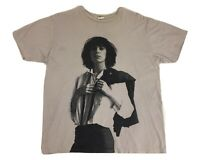 Patti Smith shirt 2013 Concert shirt Punk shirt Punk Rock shirt Gray Shirt XL