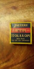 Vintage Peters 22 Bb Caps Ammo Box peters cartridge co empty