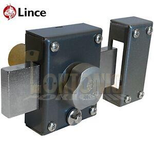 Lince 3910 Black High Security Garden Gate Shed Sliding Rim Dead Bolt Lock