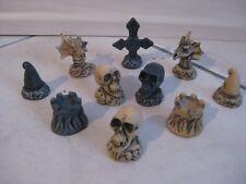 10 piezas drachenscrullfigurenset dragón figuras altura 4,5 gnomo calavera scrull
