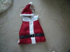 Dog Santa Xmas Coat Outfit M Red