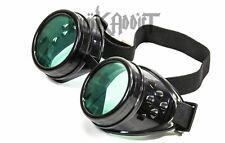 Green Steampunk Crazy goggles Burning man festival costume Scientist  Halloween