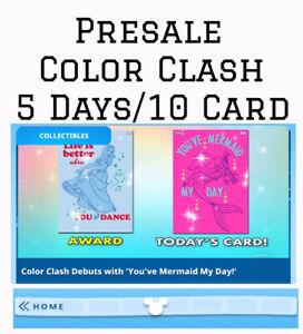 PRESALE: COLOR CLASH-10 CARD SET/5 DAYS-MOTION+STANDARD-TOPPS DISNEY COLLECT