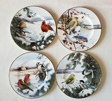 New 4 Lenox Winter Greetings Scenic Salad/Dessert/Luncheon/Accent Birds Plates