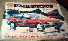 1988 FORD FALCON EA Owners Manual 15,000km on