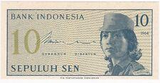 Bank Indonesia 10 Sepuluh Sen 1964 DCN 069790 Gubernur Direktur